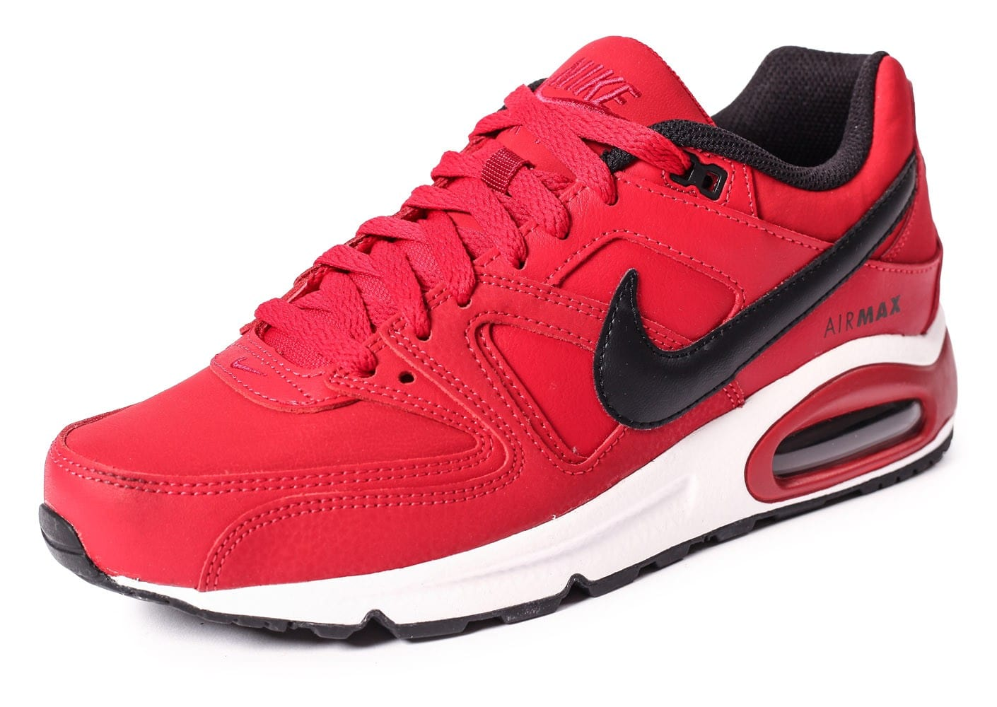 Max Et Chaussures Baskets Air Noire Command Leather Nike Rouge sdthrQC