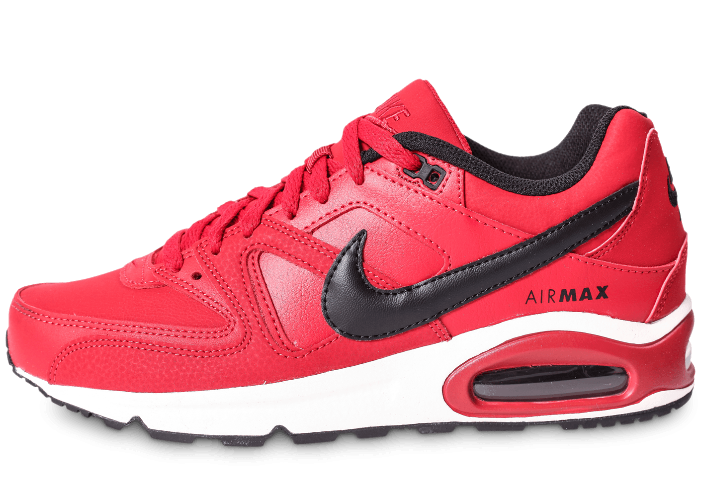 classic fit 2314b b2b23 Nike Air Max Command Leather rouge et noire - Chaussures Baskets homme -  Chausport
