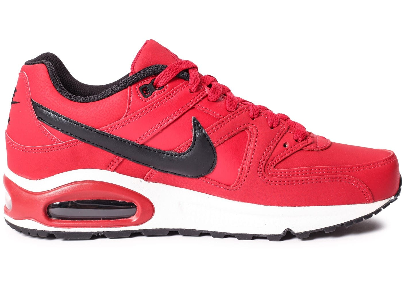 info for 37878 7224c inexpensive chaussures nike air max command leather rouge et noire vue  dessous 8dedb 48edb