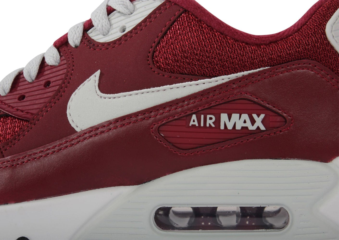 super populaire 11ee9 1fb24 Nike Air Max 90 Essential Bordeaux - Chaussures Baskets ...