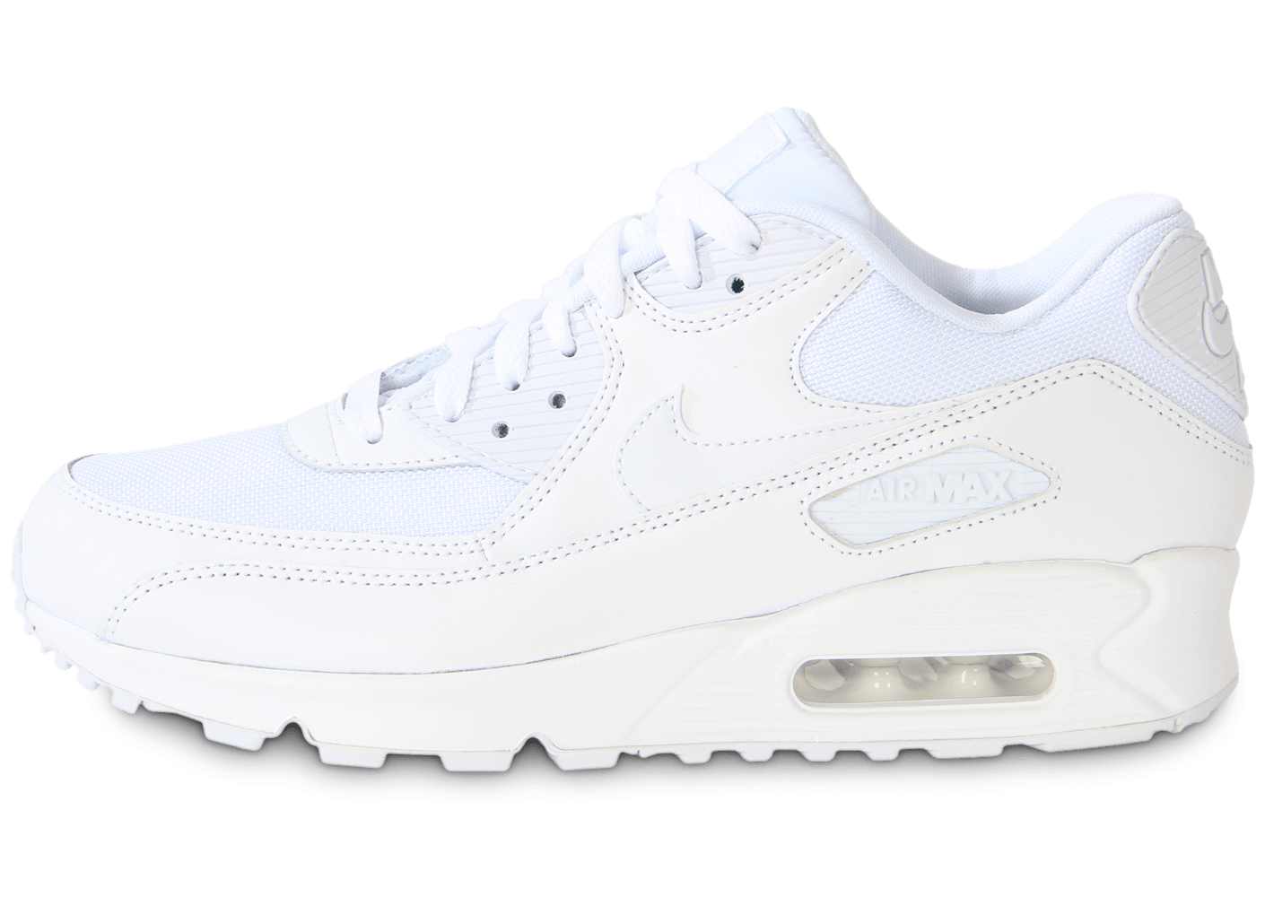 low priced ec208 6ddb1 Nike Air Max 90 Essential Blanche - Chaussures Baskets homme
