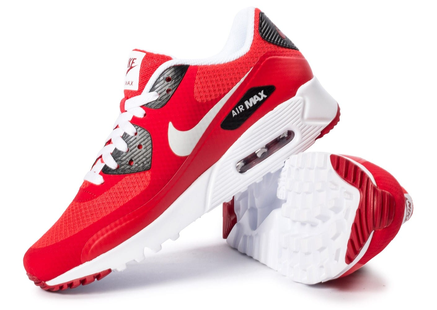 ... Chaussures Nike Air Max 90 Ultra Essential rouge vue dessous ...