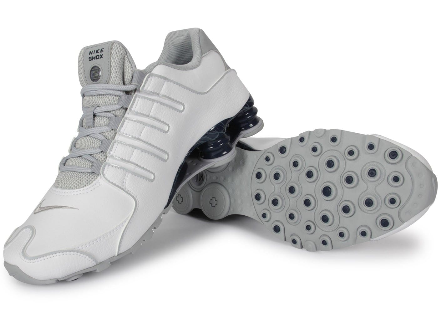huge selection of f9628 8669f ... Chaussures Nike Shox Nz Blanche vue intérieure ...