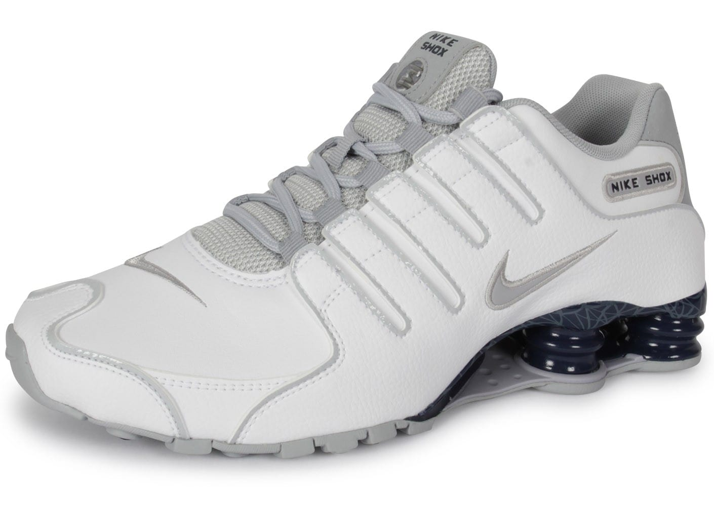 new product 3cc6c e8480 Nike Shox Nz Blanche - Chaussures Baskets homme - Chausport