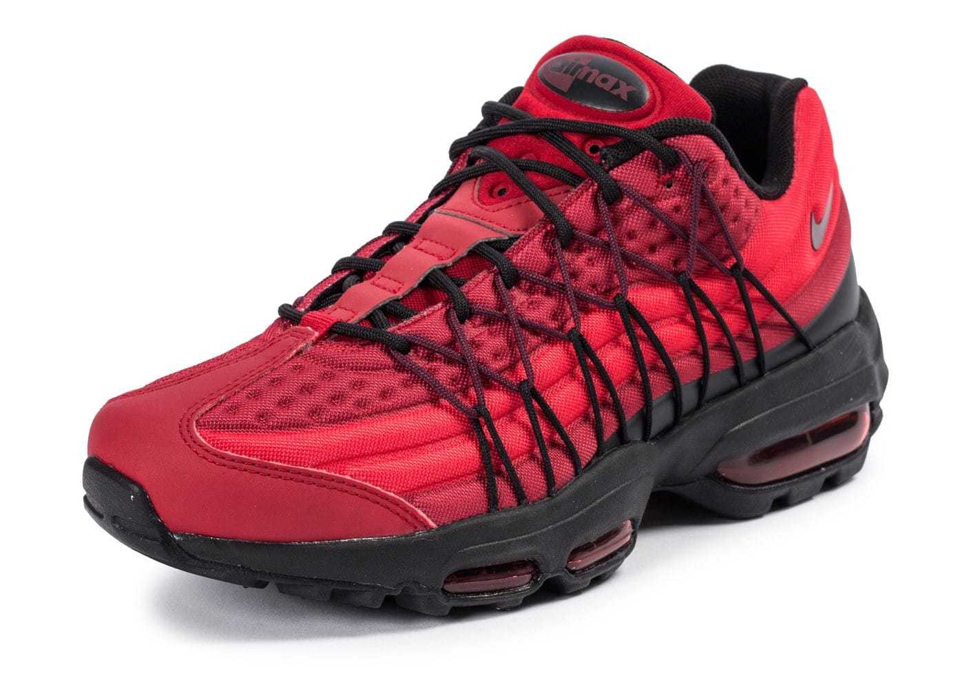 ... Chaussures Nike Air Max 95 Ultra SE rouge vue avant ...
