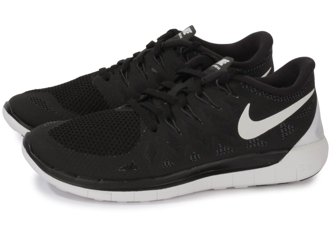 Nike Free 5.0 Noire Chaussures Baskets homme Chausport