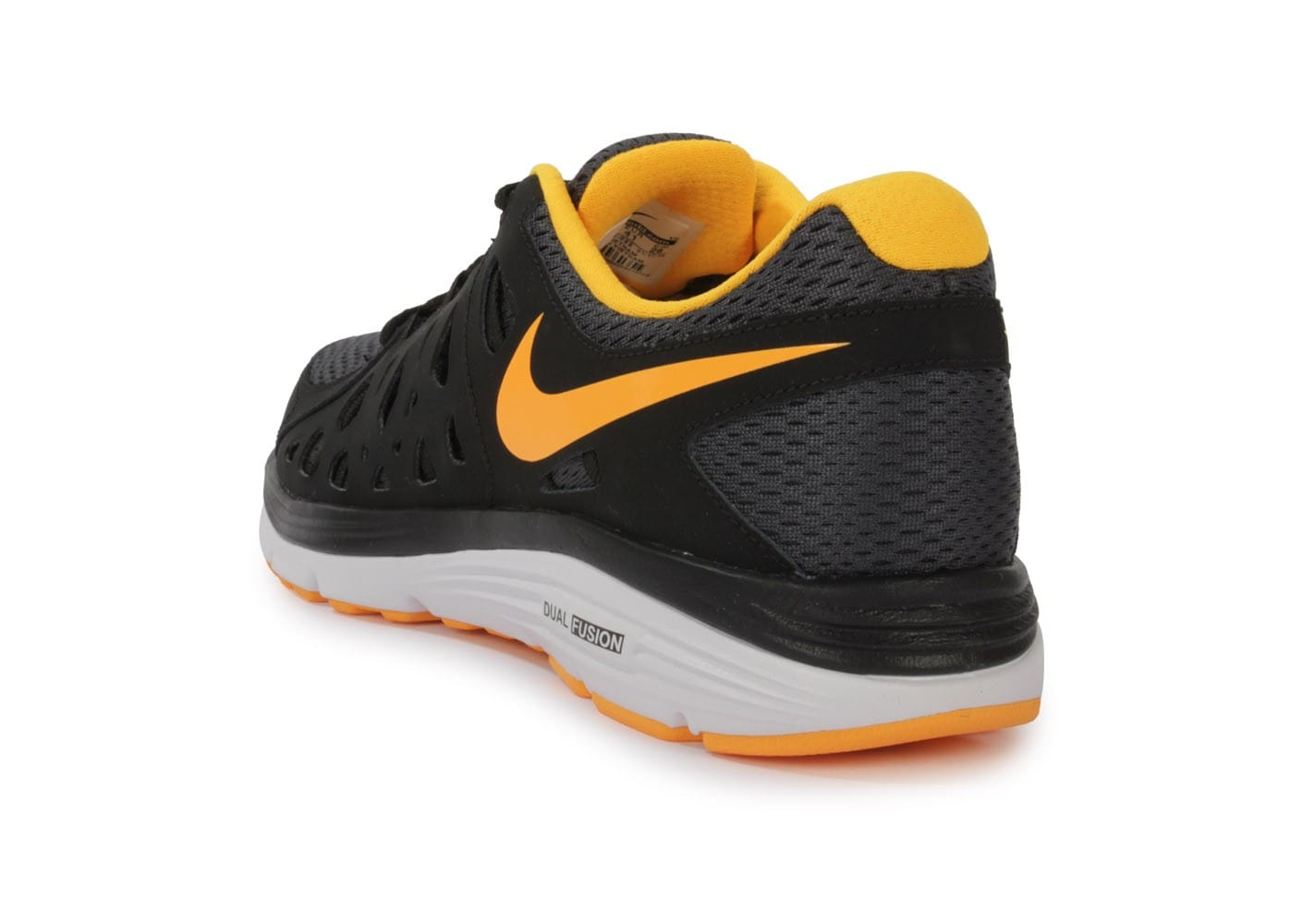 low priced 65ece ac668 ... Chaussures Nike Dual Fusion Anthracite Jaune vue arrière ...