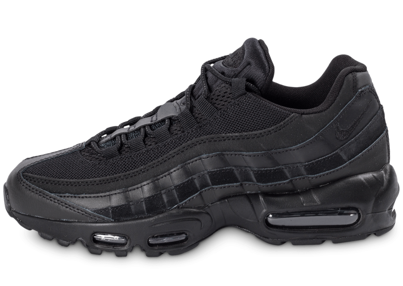 c687eceedb7 Nike Air Max 95 Essential Triple noir - Chaussures Baskets homme - Chausport