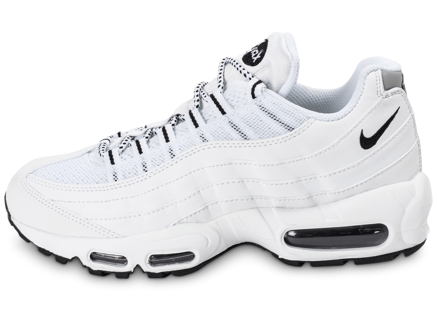 the best attitude f186e 4a49b Nike Air Max 95 Premium blanche - Chaussures Baskets homme - Chausport