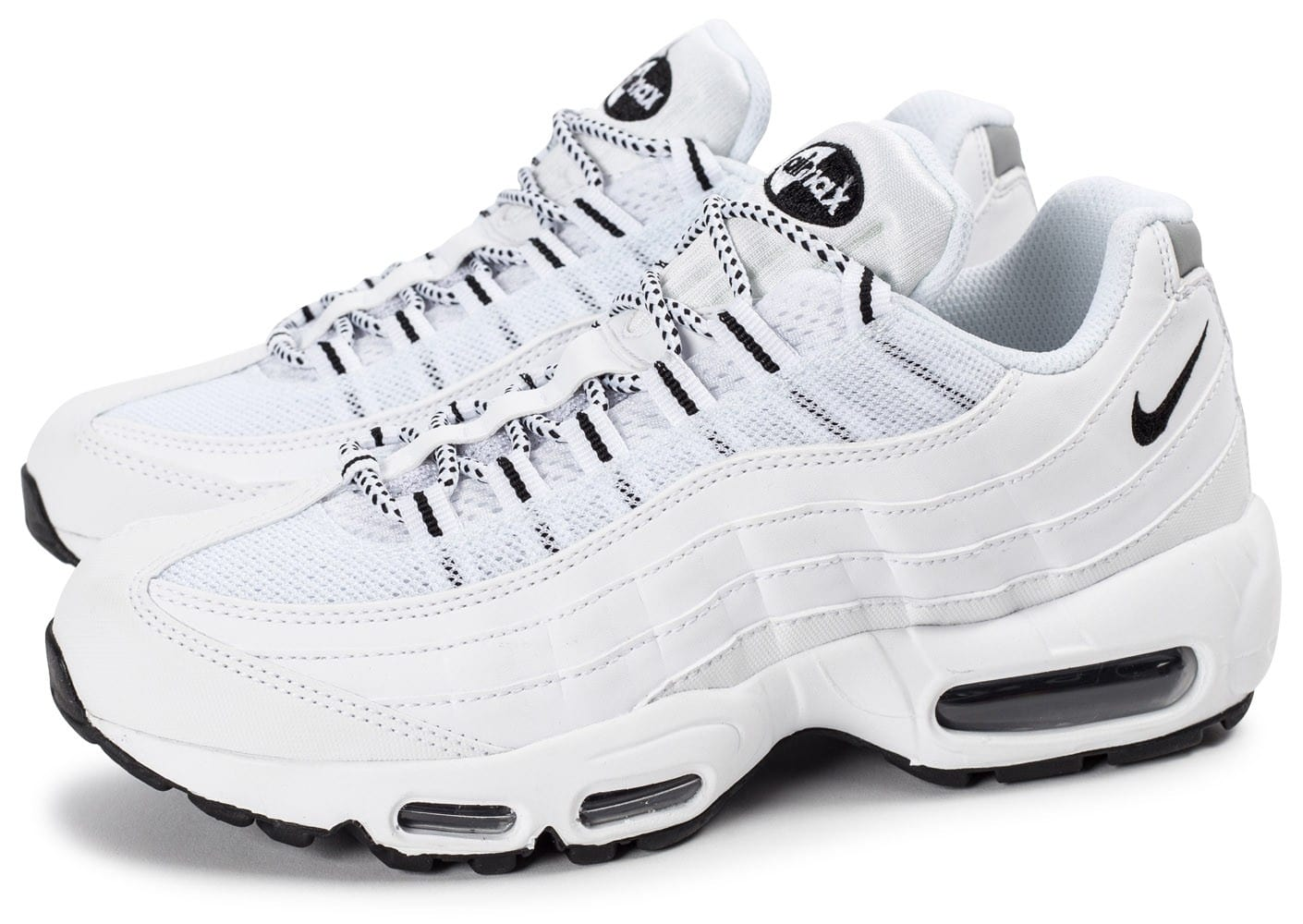 Homme Baskets Basses Nike Air Max'95 Blanc Chaussures