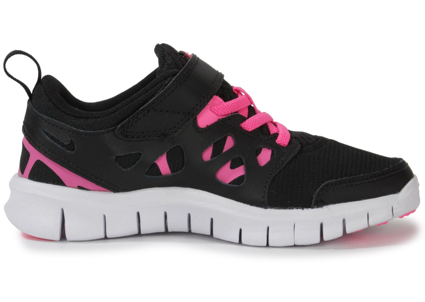 nike free run 2 noir et rose chaussures chaussures chausport. Black Bedroom Furniture Sets. Home Design Ideas