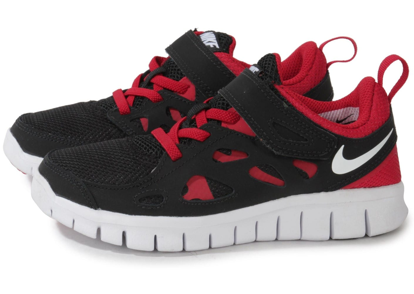 Free Chausport Enfant Noire Chaussures Nike Rouge Run O4wTqY7wB