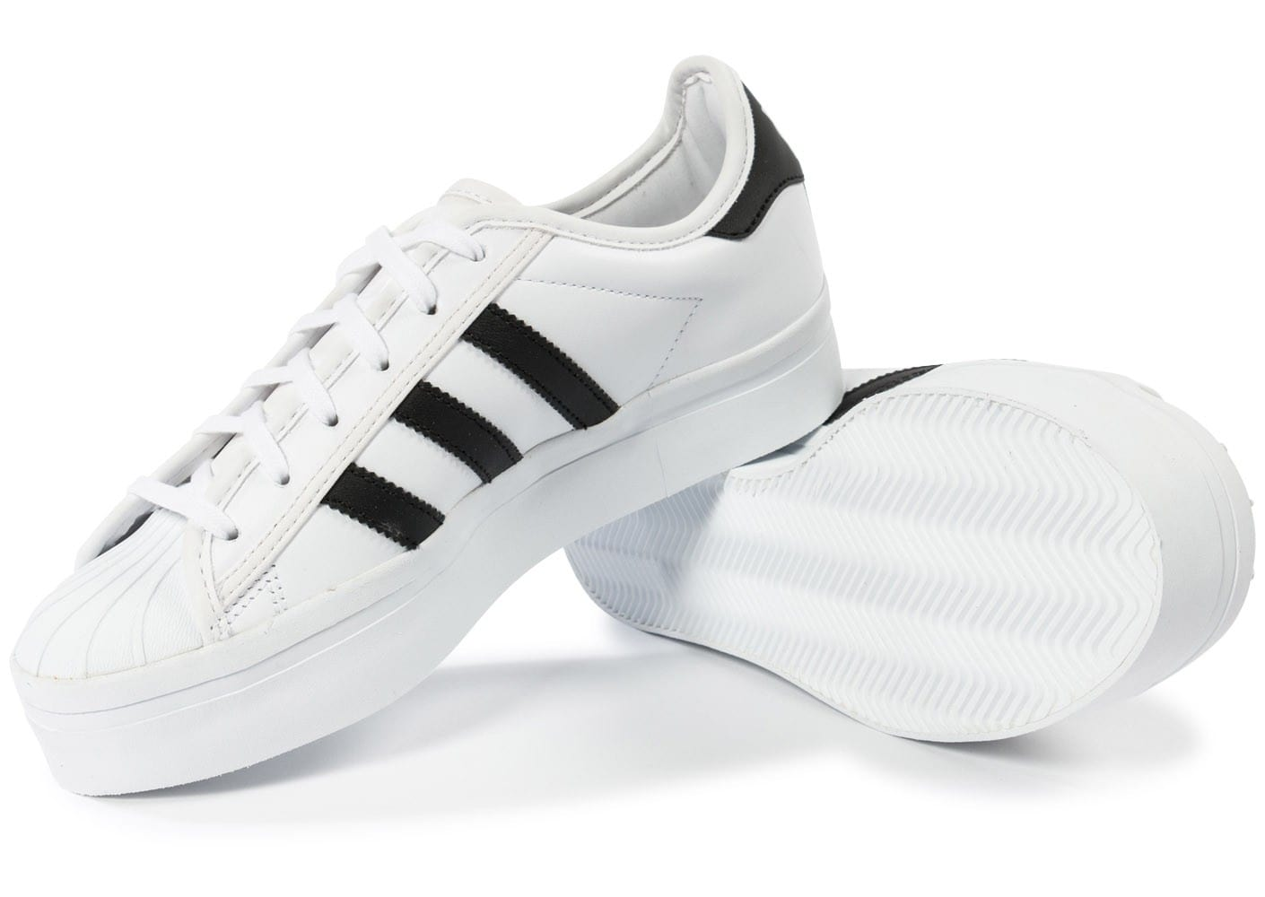 ... Chaussures adidas Superstar Rize Plateforme blanche vue intérieure ...