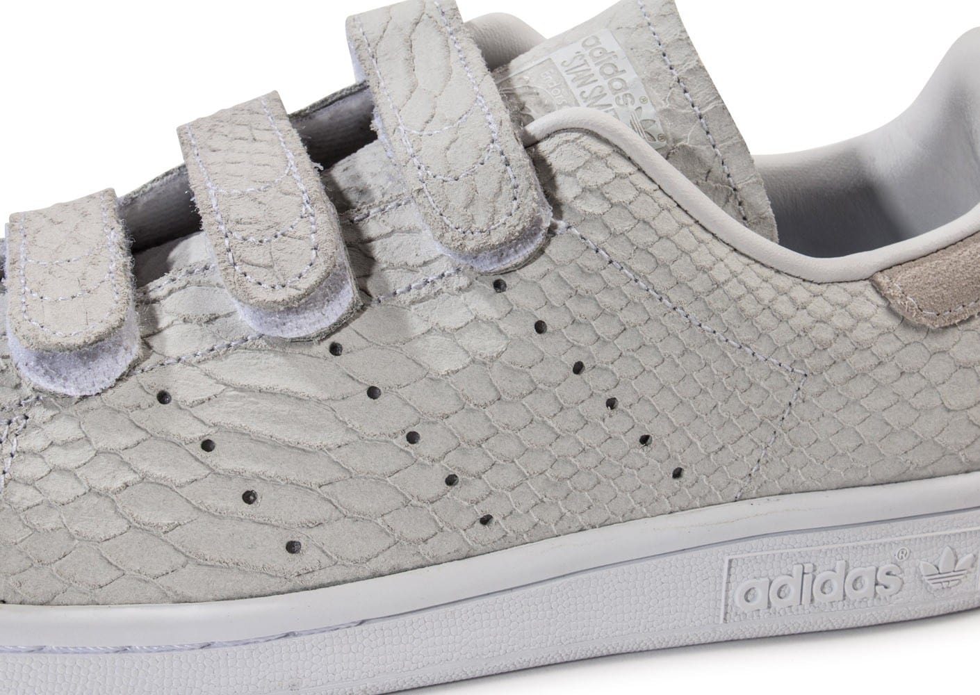 great fit 7d2c4 141fb ... Chaussures adidas Stan Smith Cf Velcro grise vue dessus