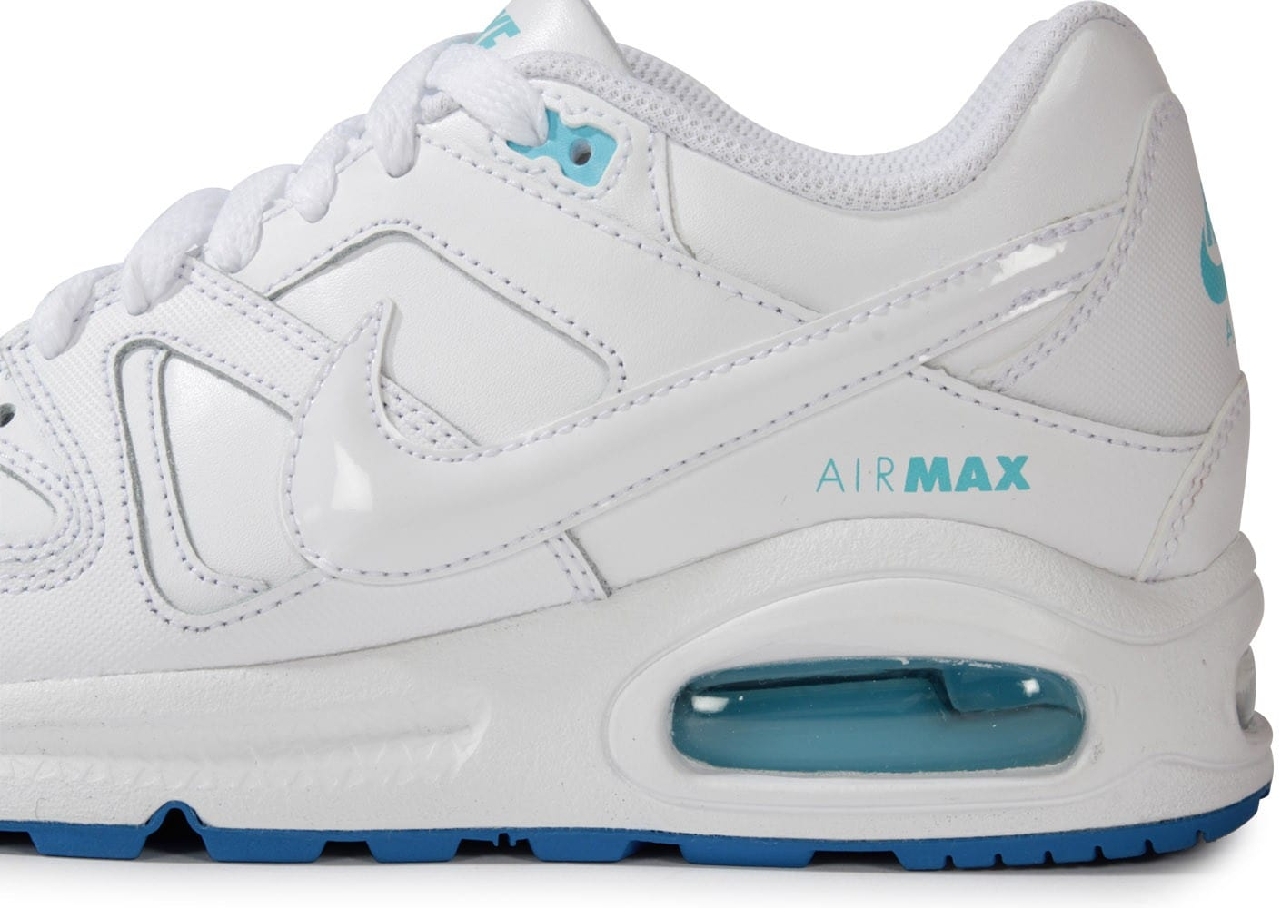 Nike Air Max Command Junior Blanche Turquoise Chaussures