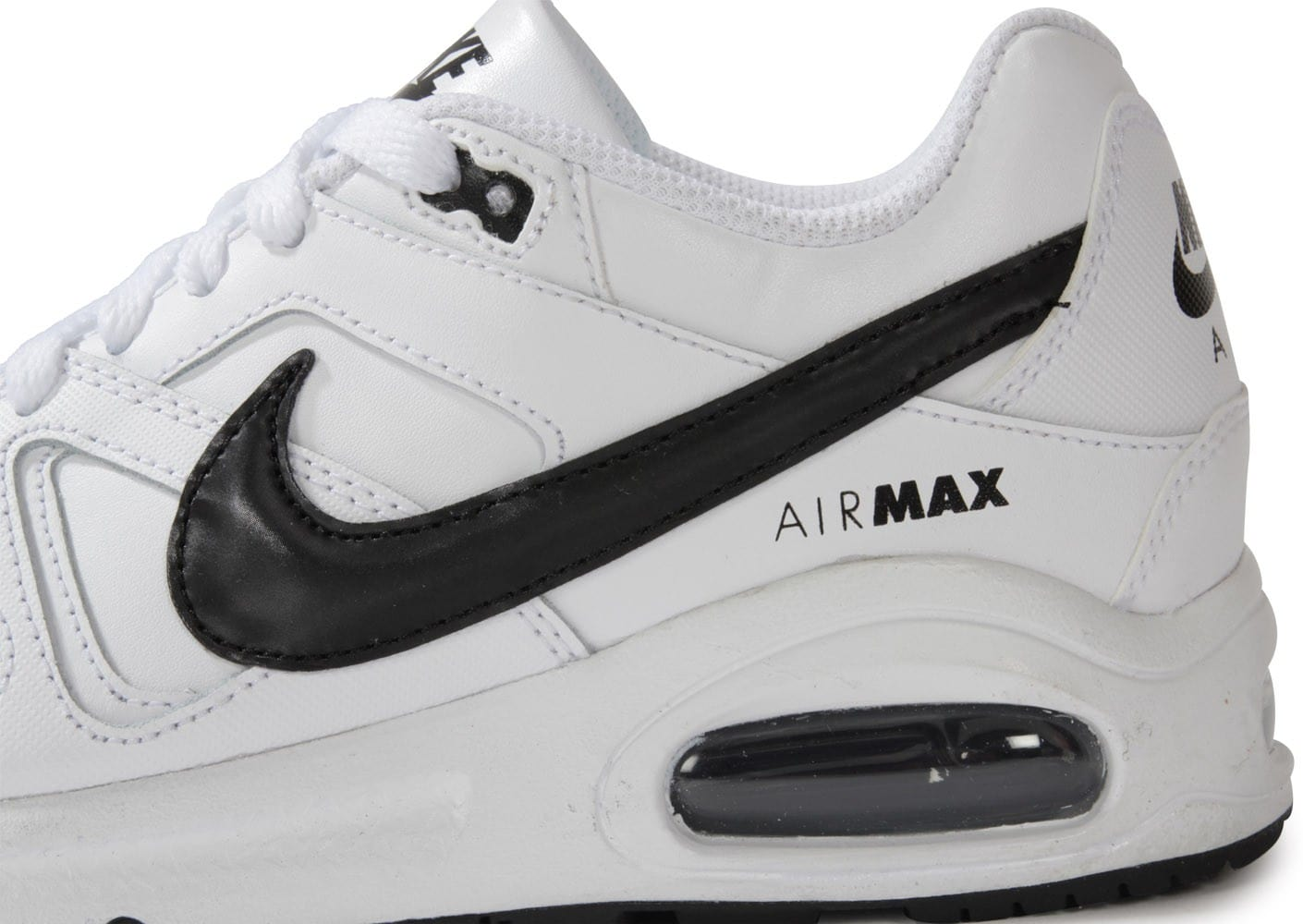 new styles fd09f 5435c ... Chaussures Nike Air Max Command Gs Blanc Et Noir vue dessus