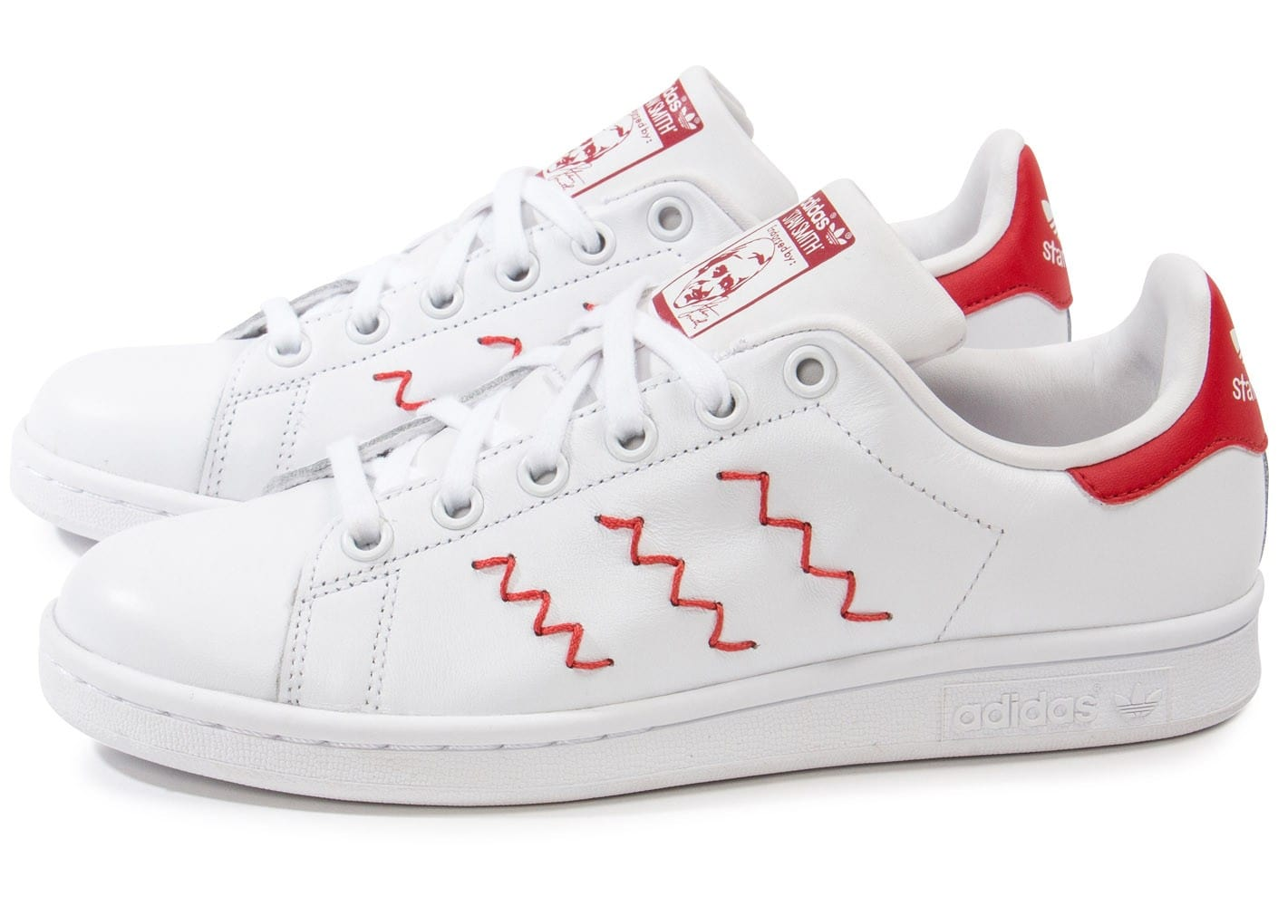 stan smith homme rouge et blanc