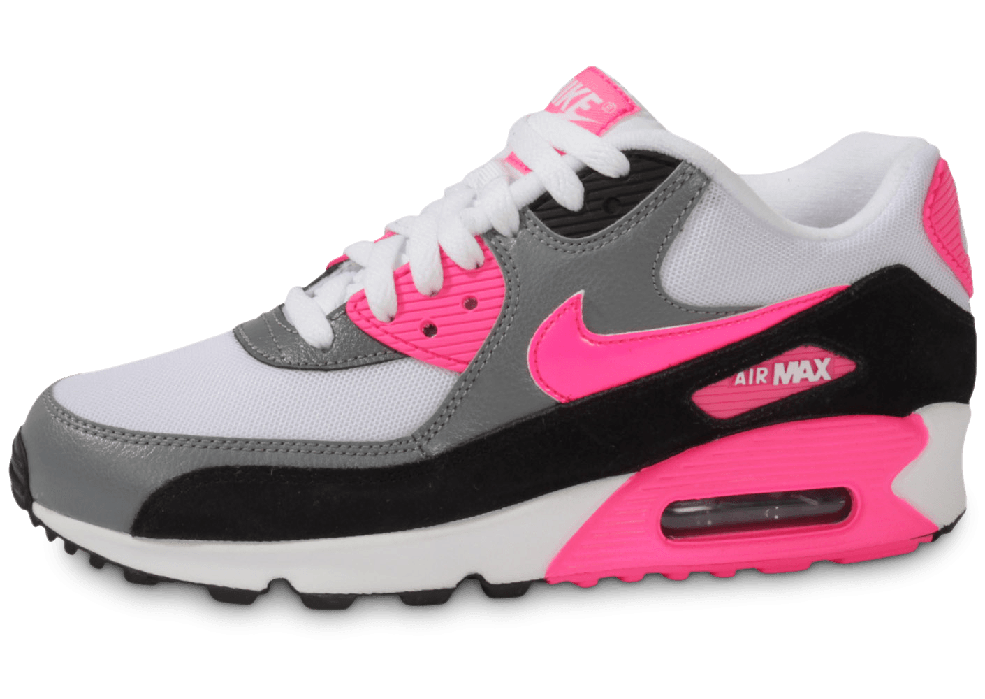 Nike Air Max 90 Essential Blanche Rose - Chaussures Chaussures ...