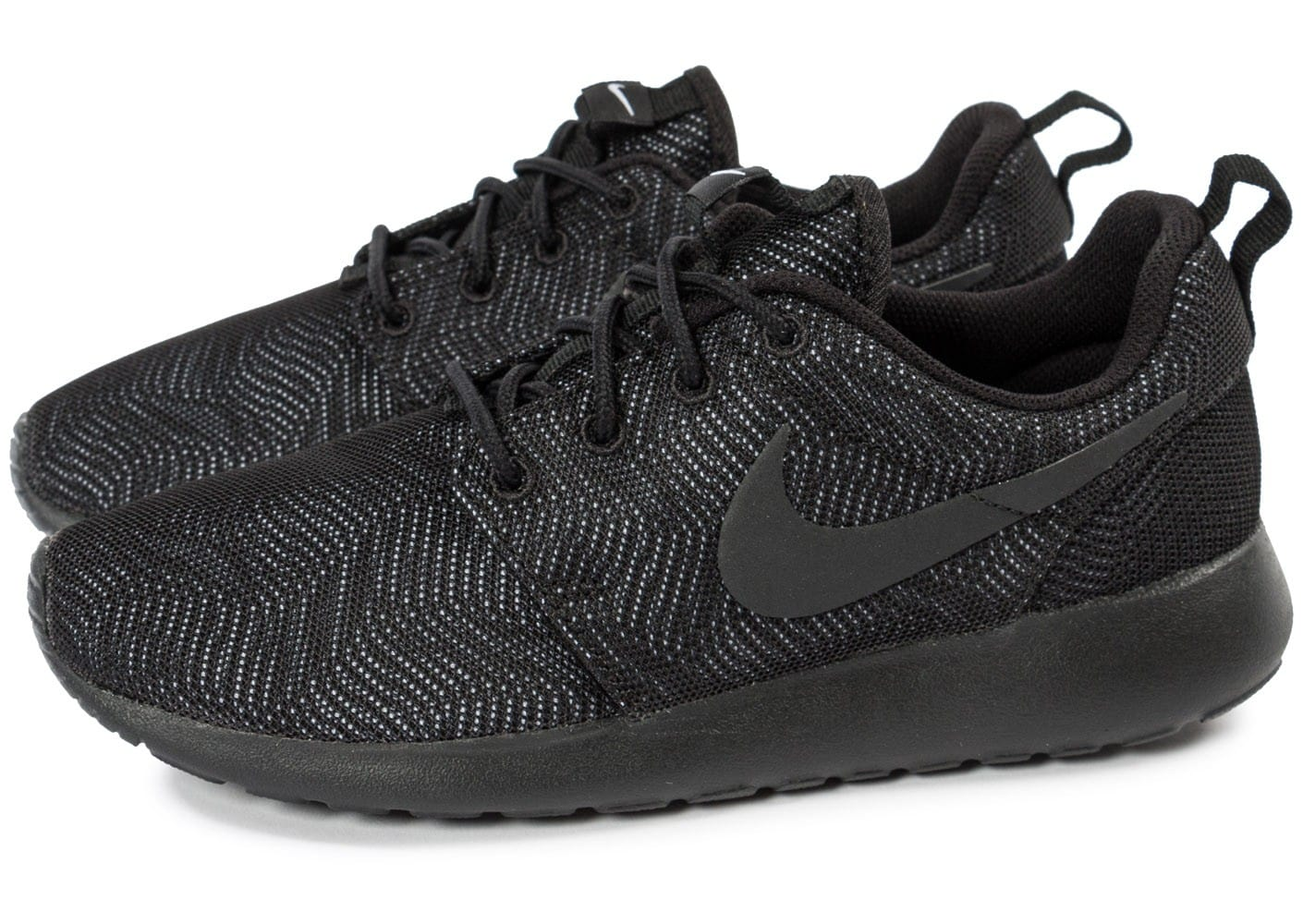 huge selection of 09119 ceaa6 Nike One Noire Femme Roshe Chausport Chaussures Baskets Moire lTcK13FJ