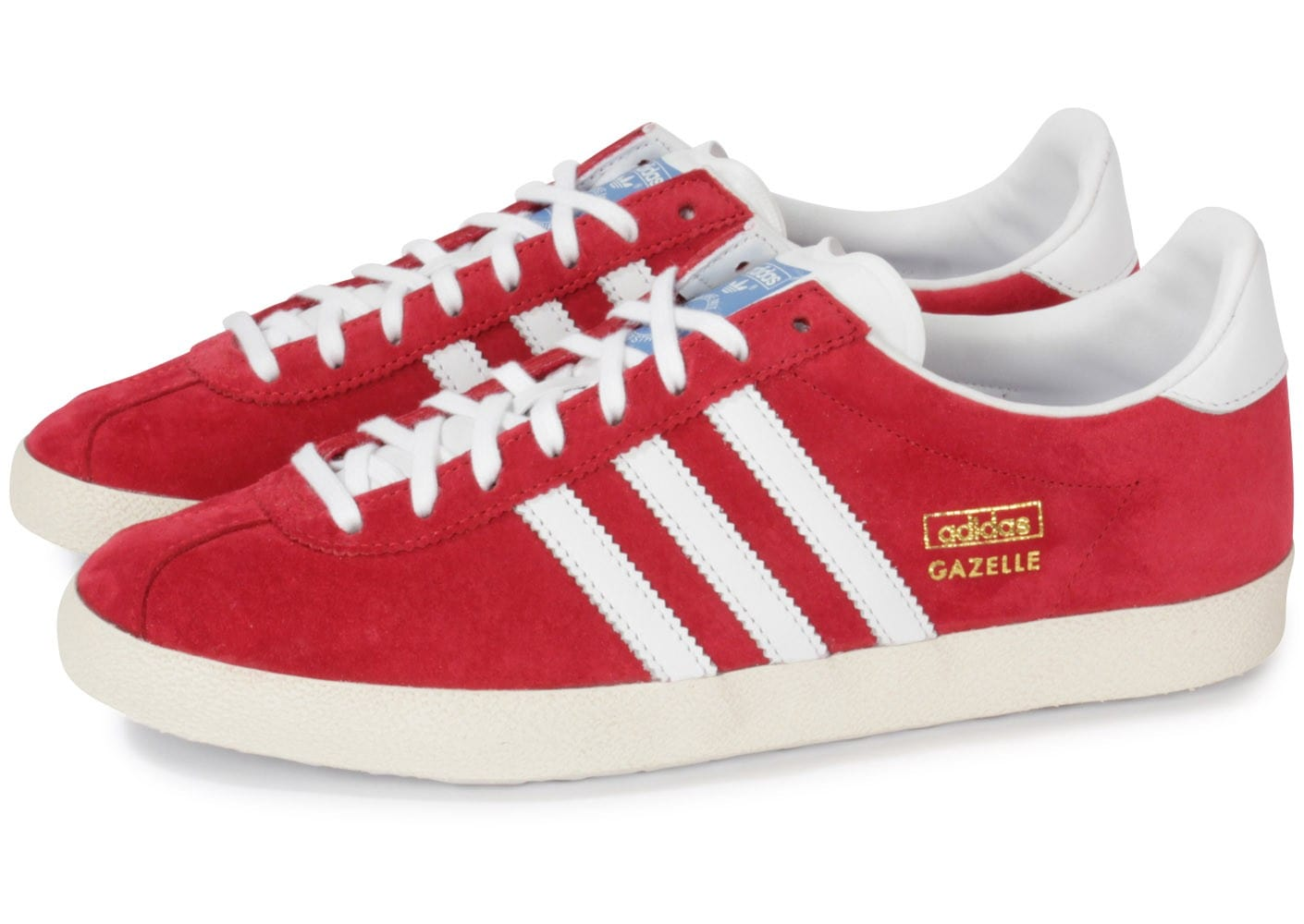 adidas Gazelle rouge Chaussures Baskets homme Chausport