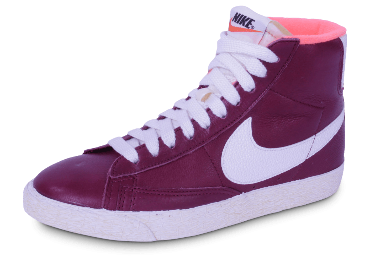 best sneakers 936a4 c31f4 Nike Blazer Cuir Grenat - Chaussures Chaussures - Chausport