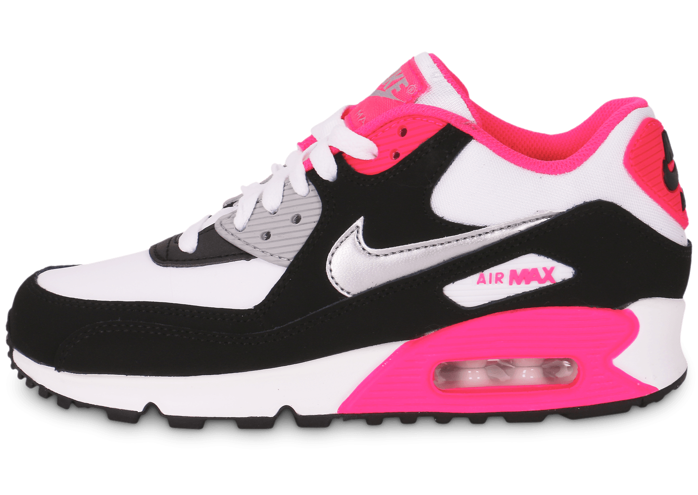 Nike Air Max 90 junior blanc noir rose