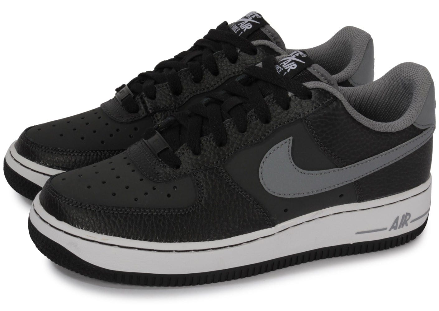 nike air force 1 noire et grise chaussures chaussures. Black Bedroom Furniture Sets. Home Design Ideas
