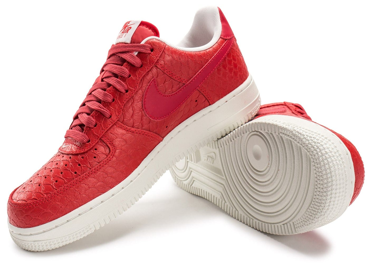 Nike Air Force 1 07 LV8 Snake rouge Chaussures Baskets