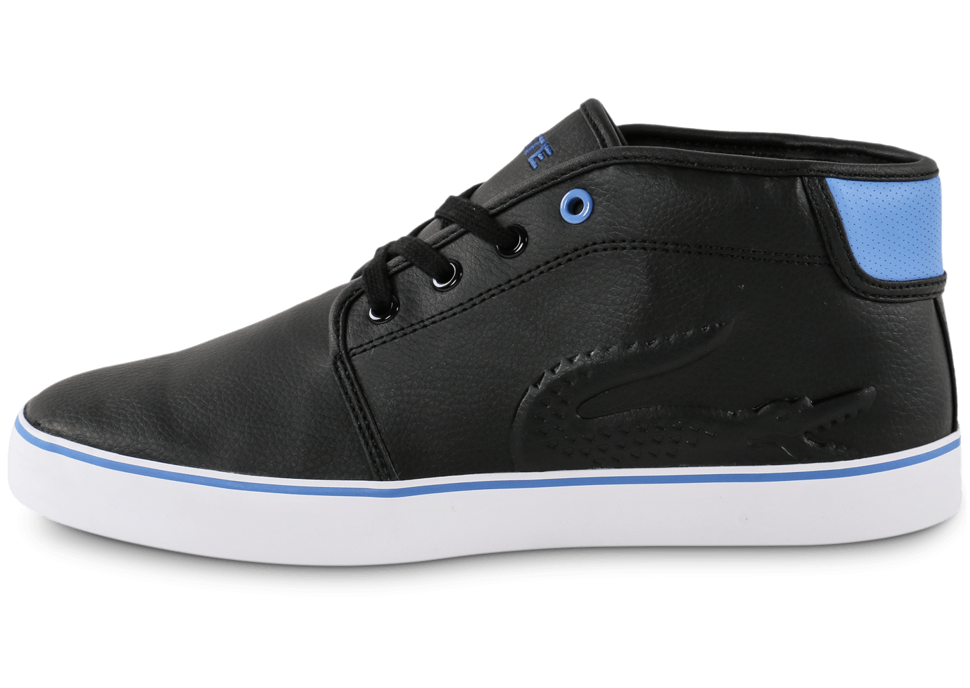 568b9503a515b6 Lacoste Ampthill Junior Syn noire - Chaussures Chaussures - Chausport