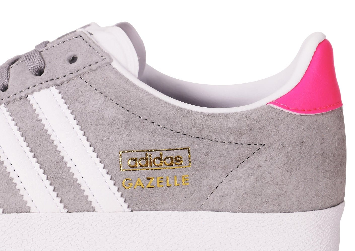 reputable site 9e933 f2a90 ... Chaussures adidas Gazelle OG grise et rose vue dessus
