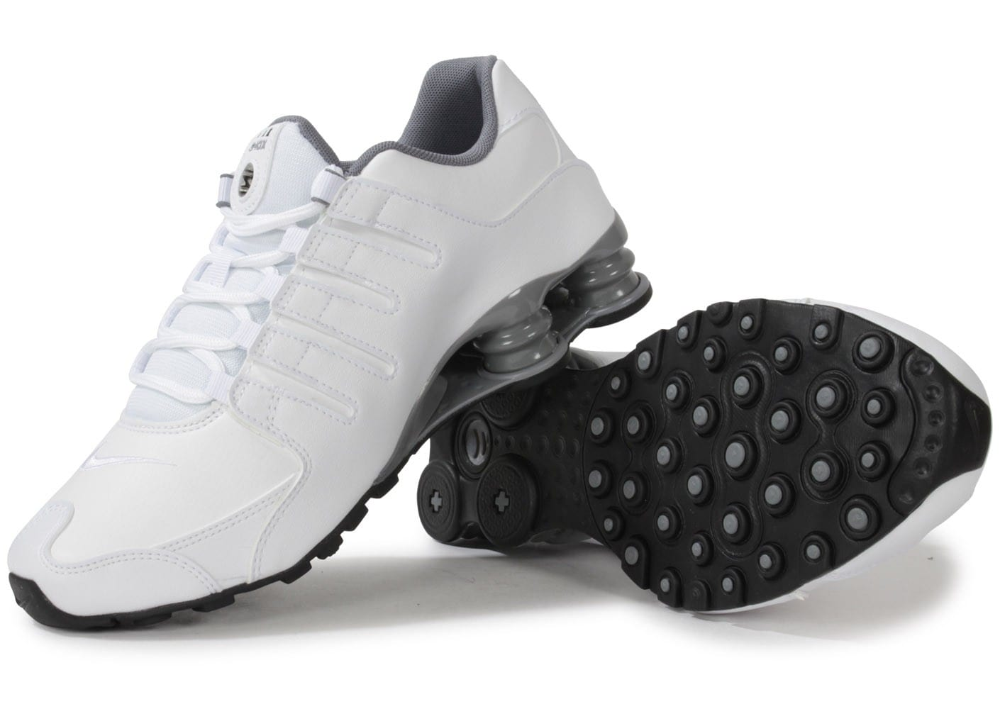 huge selection of 238f0 5331a ... Chaussures Nike Shox Nz Blanche vue intérieure ...