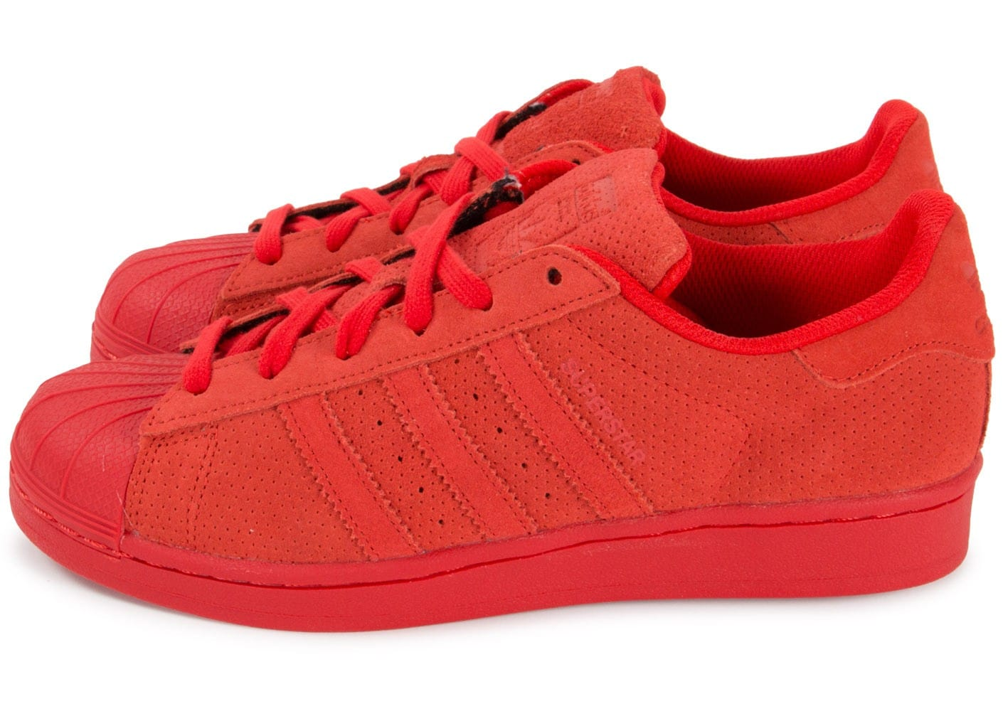 adidas Superstar Multicolor W rouge - Chaussures adidas ...