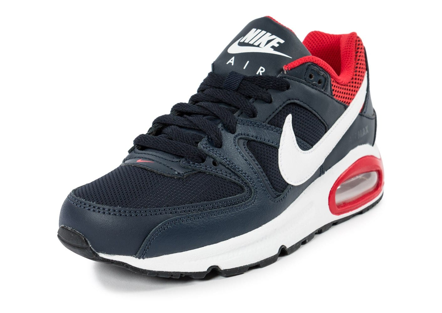 Nike Air Max Command junior bleu marine et rouge