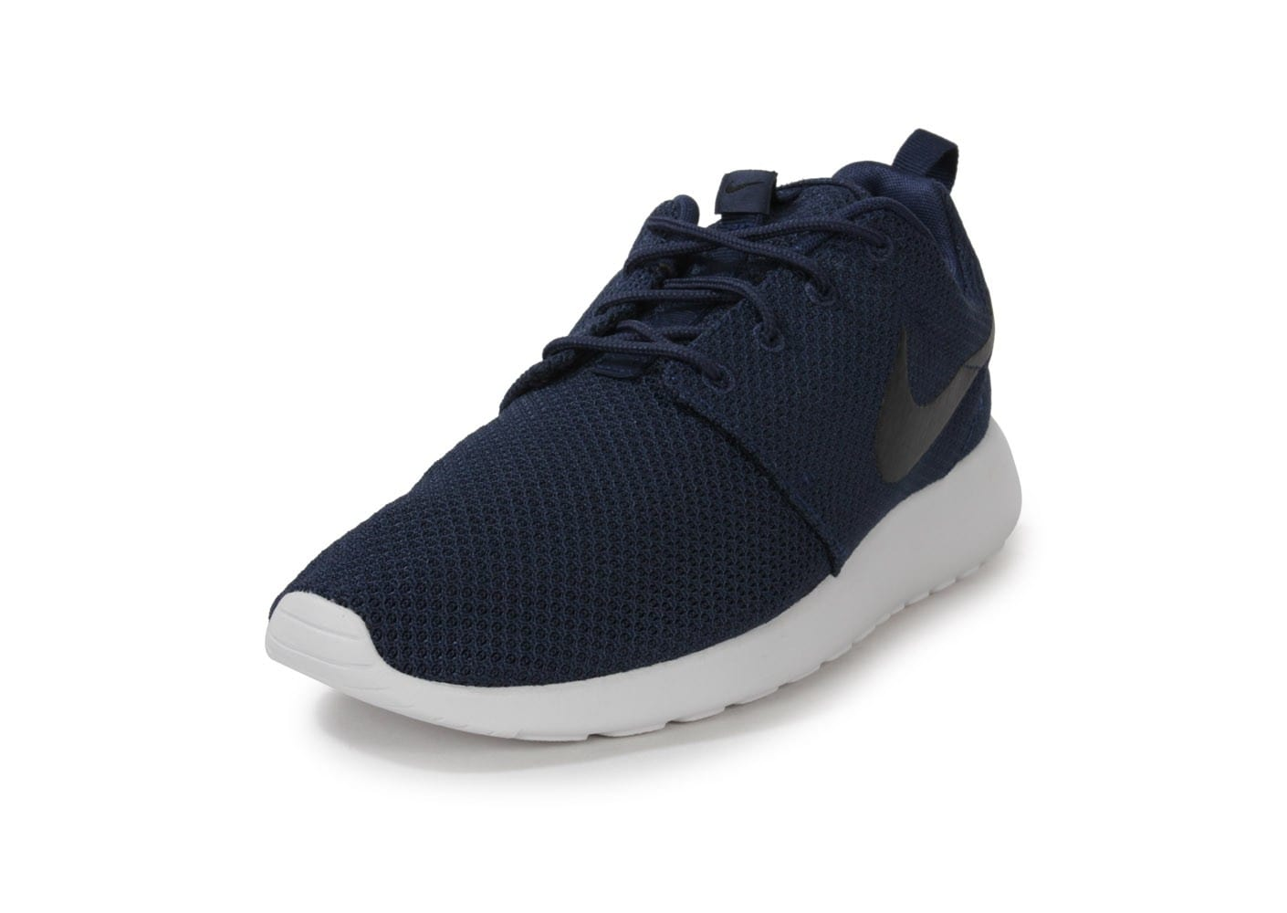 purchase cheap 36761 2868c ... Chaussures Nike Roshe Run Bleu Marine vue avant ...