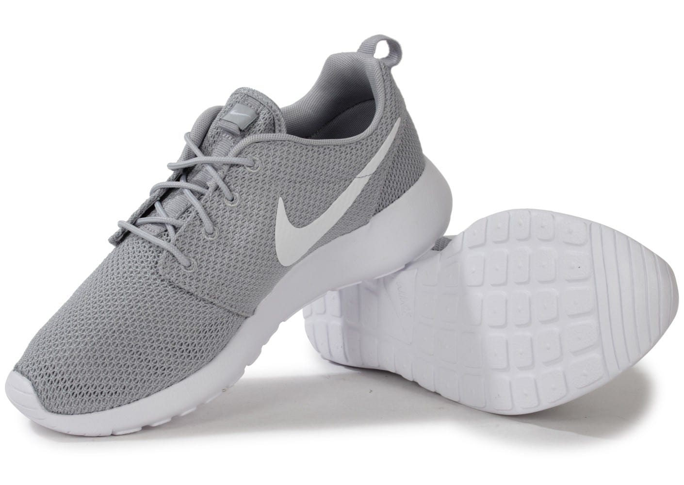 the latest 212be e9695 ... Chaussures Nike Roshe Run grise vue intérieure ...