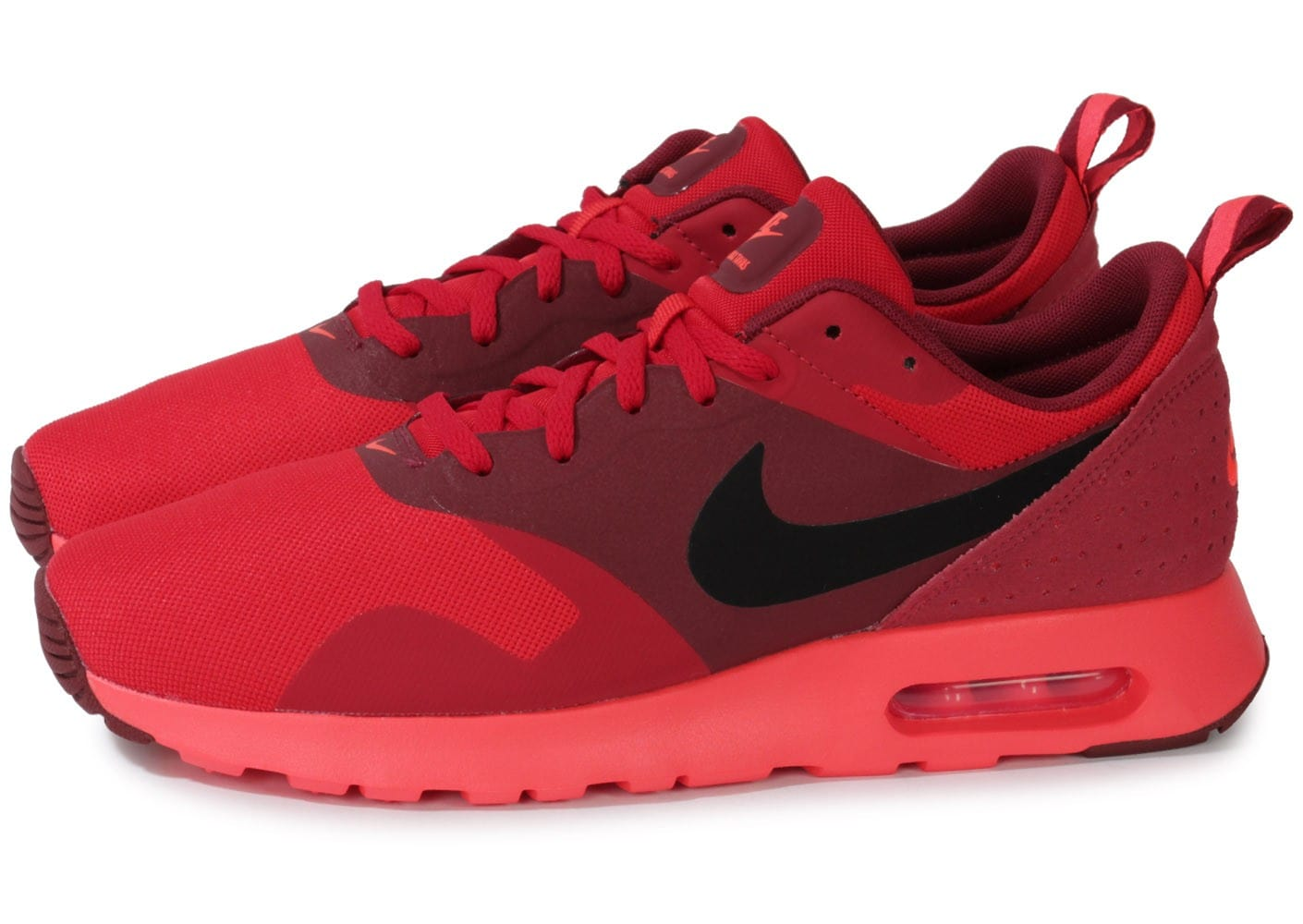 Nike Air Max Tavas Rouge Chaussures Baskets homme Chausport