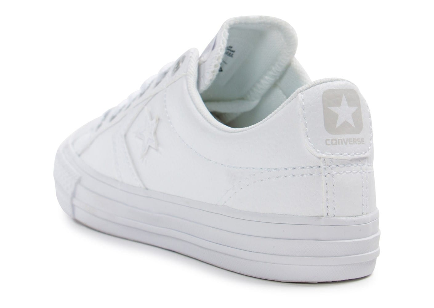 Toutes Star blanche Enfant Chaussures Converse Player Cuir les nYaxHn4w