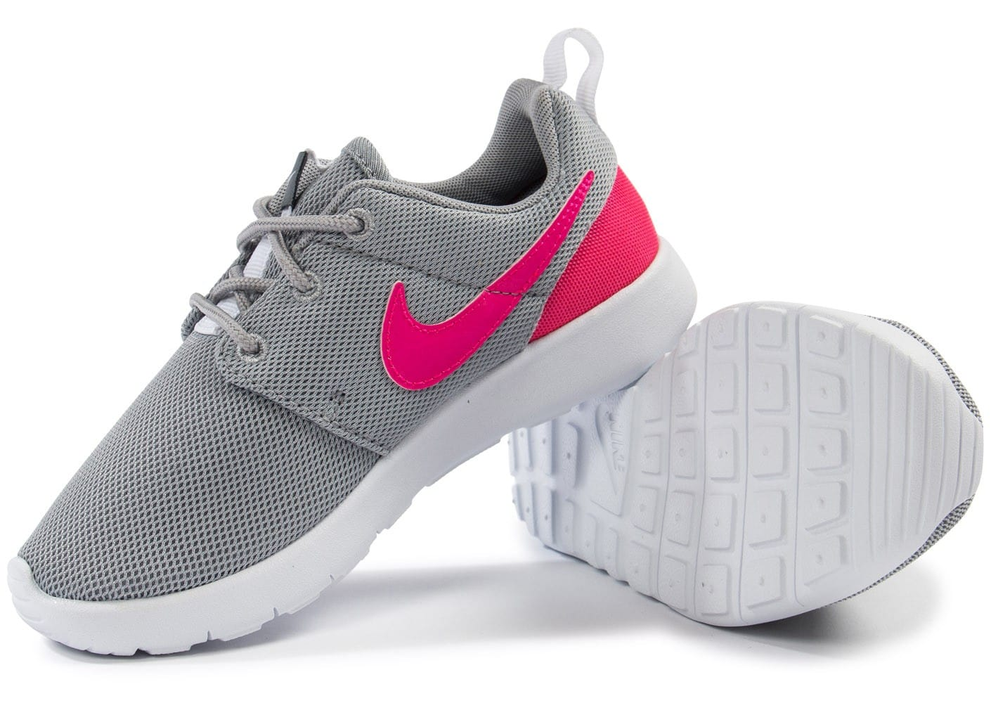 reputable site 47ad2 b59c2 ... Chaussures Nike Roshe One Enfant grise et rose vue intérieure ...