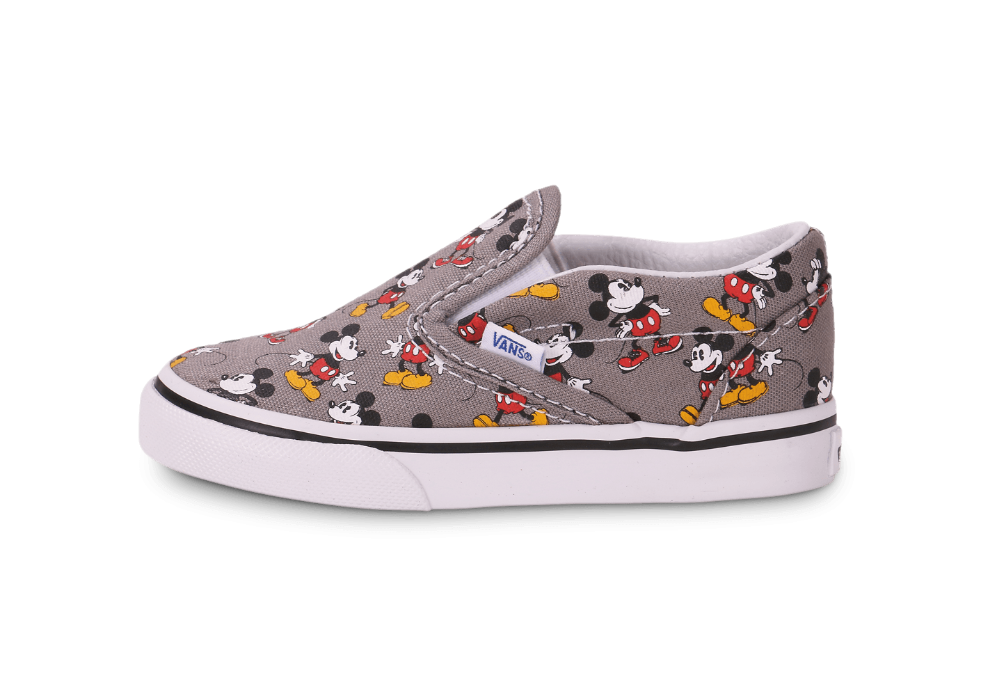 Grise Chaussures Vans Mickey Bébé Slip On Classic IYE2D9WH