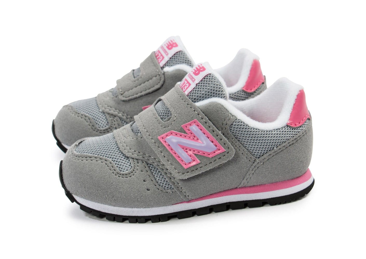 new balance kv373 fli b b grise chaussures enfant chausport. Black Bedroom Furniture Sets. Home Design Ideas