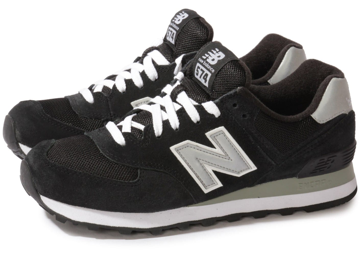 new balance ml574 nk d noire chaussures baskets homme. Black Bedroom Furniture Sets. Home Design Ideas