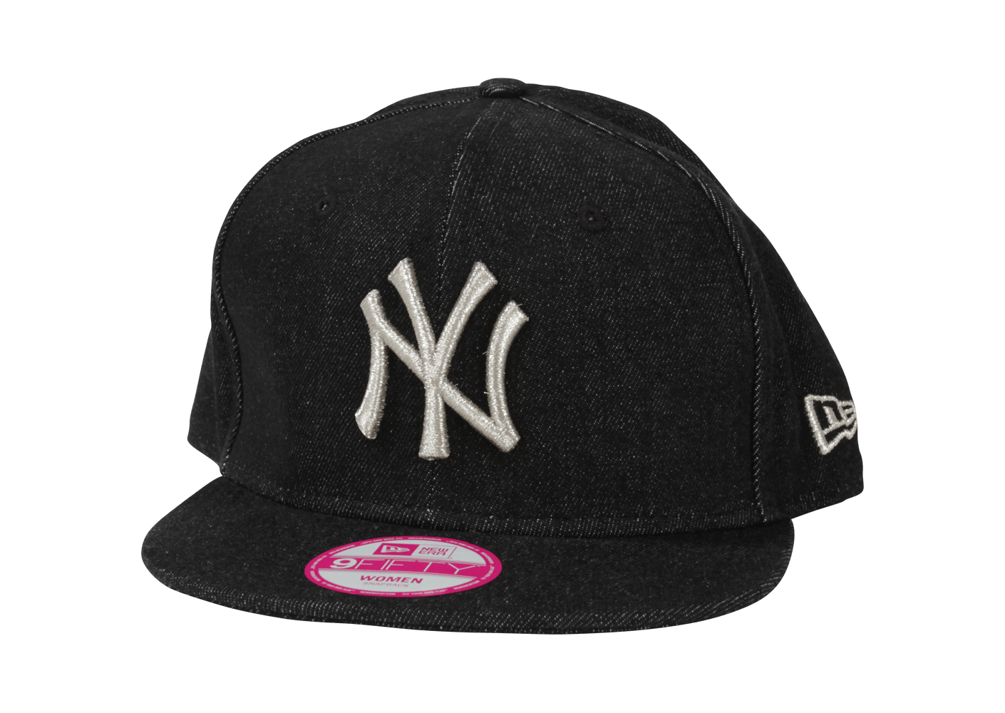 new era casquette snapback ny denim noir casquettes chausport. Black Bedroom Furniture Sets. Home Design Ideas