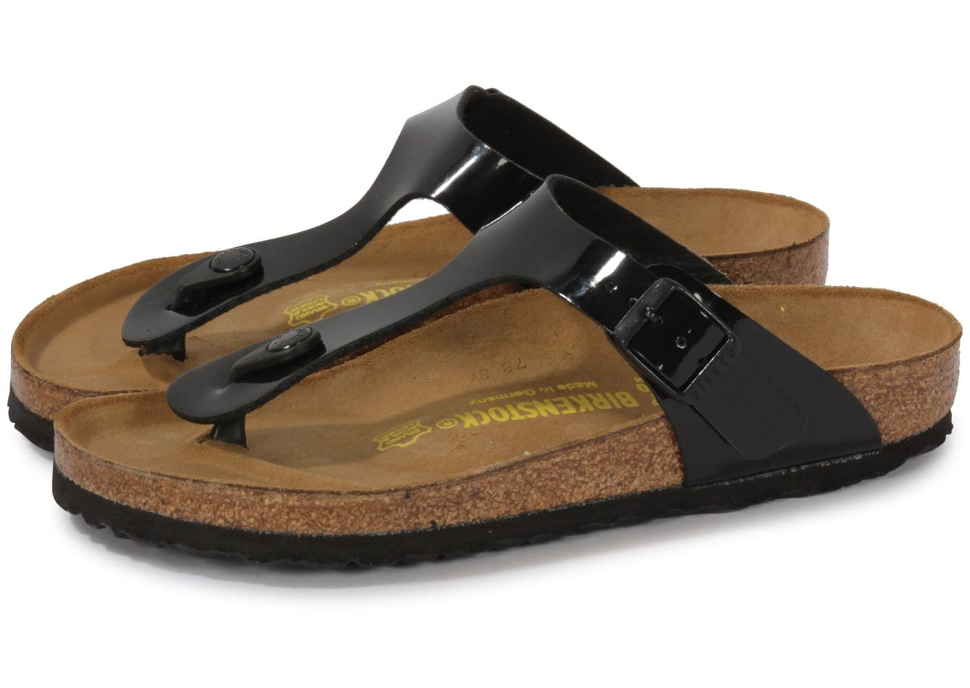 release info on on sale the latest Birkenstock Gizeh Vernis Noir - Chaussures Chaussures ...