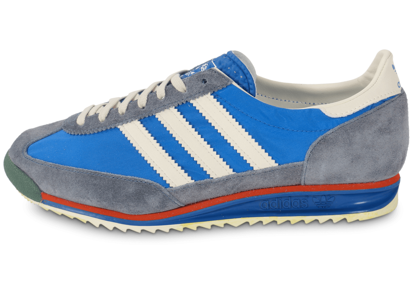 adidas sl 72 vintage bleue chaussures baskets homme chausport. Black Bedroom Furniture Sets. Home Design Ideas
