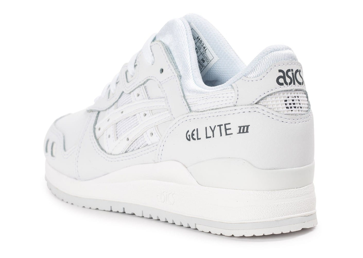 72238169c9f9f Asics Gel Lyte 3 Cuir Junior Triple Blanc - Chaussures Baskets femme ...