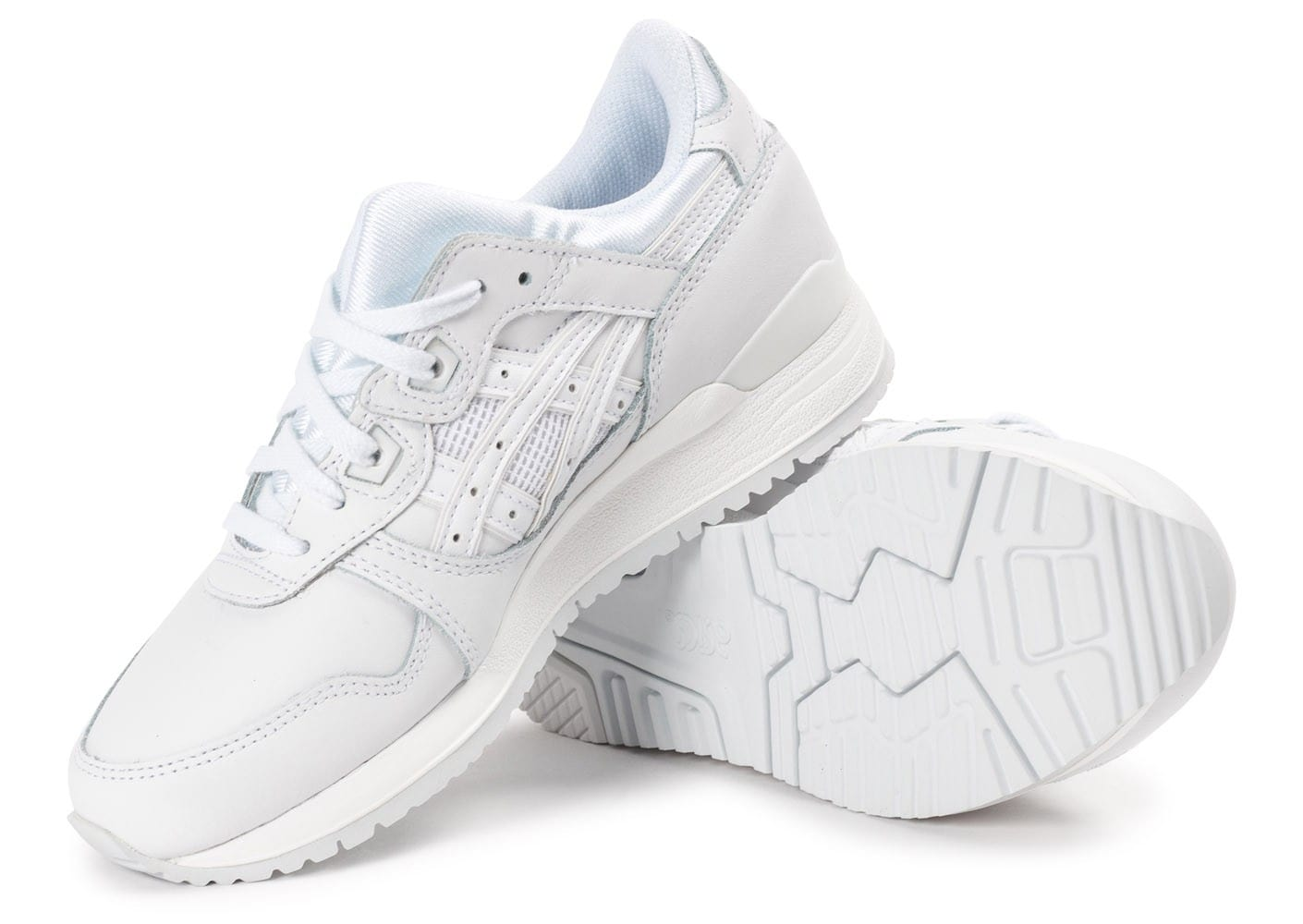 Gel 3 Asics Blanc Femme Triple Chaussures Lyte Junior Baskets Cuir XnrqRpfX