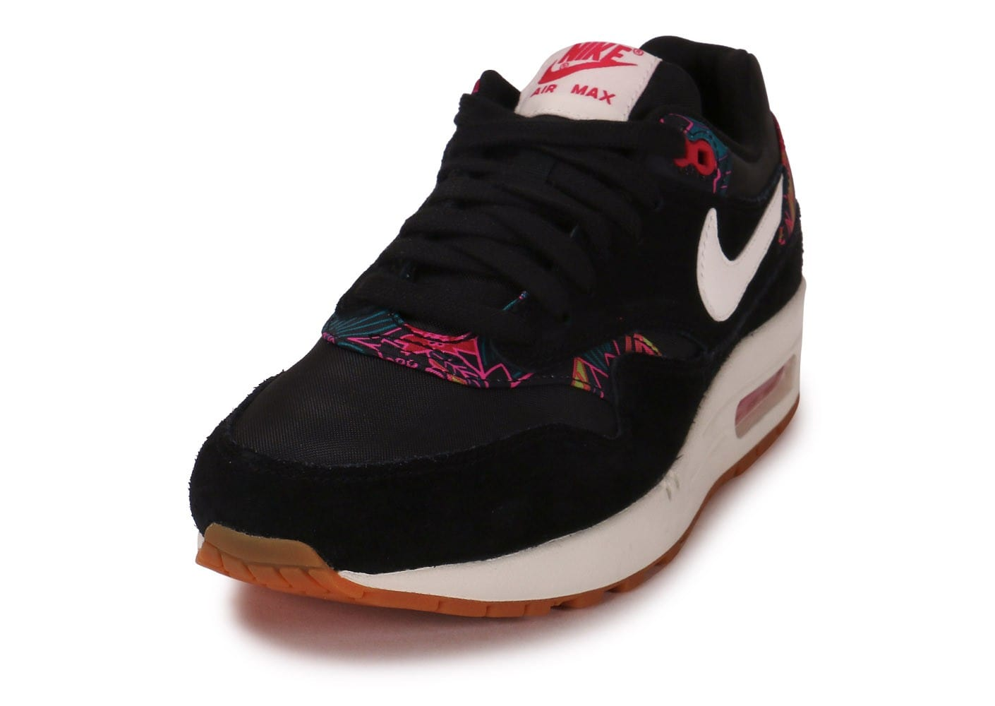 huge selection of 75891 07027 ... Chaussures Nike Air Max 1 Print aloha noire vue avant ...