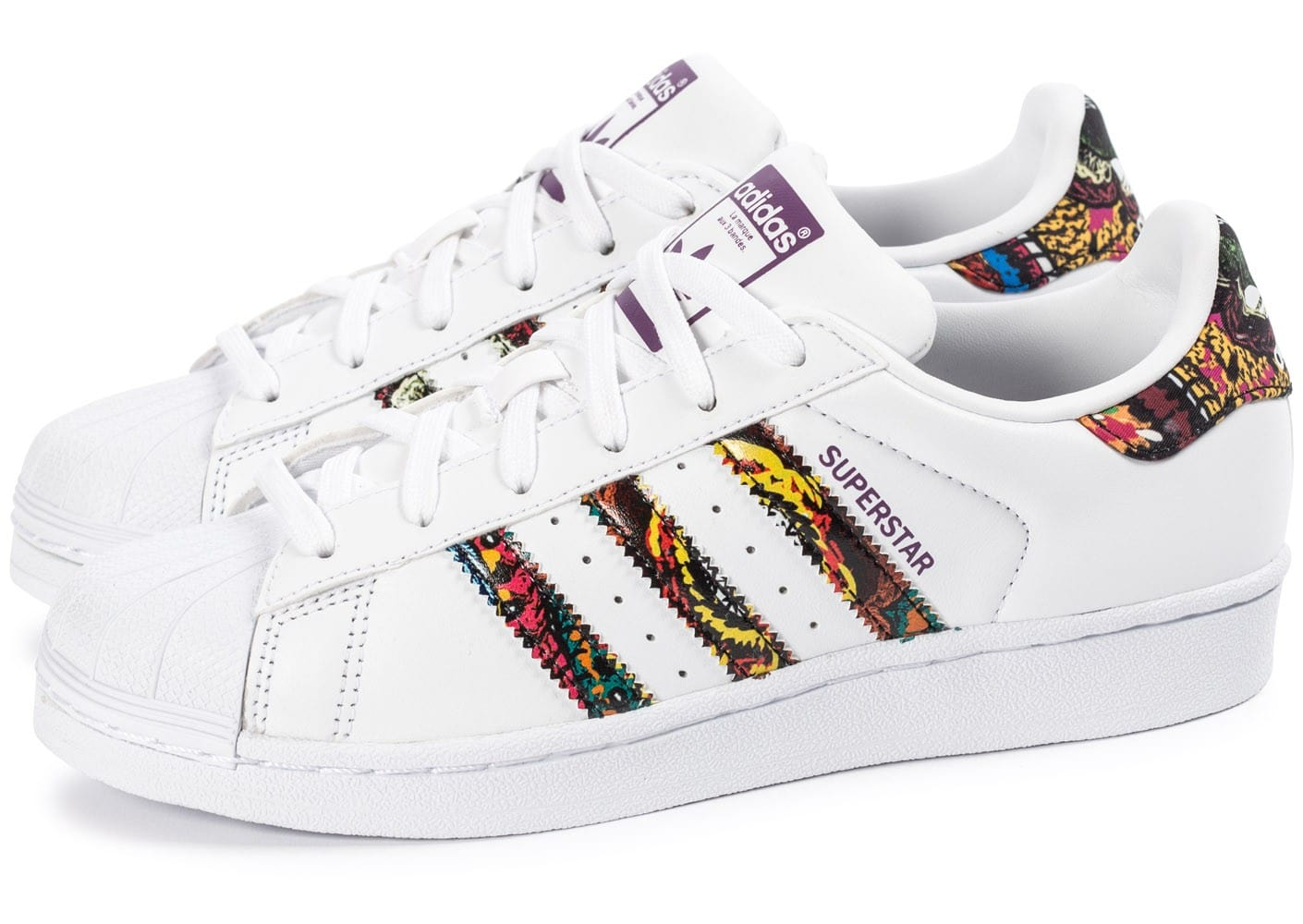 adidas blanches, adidas originals x farm superstar baskets