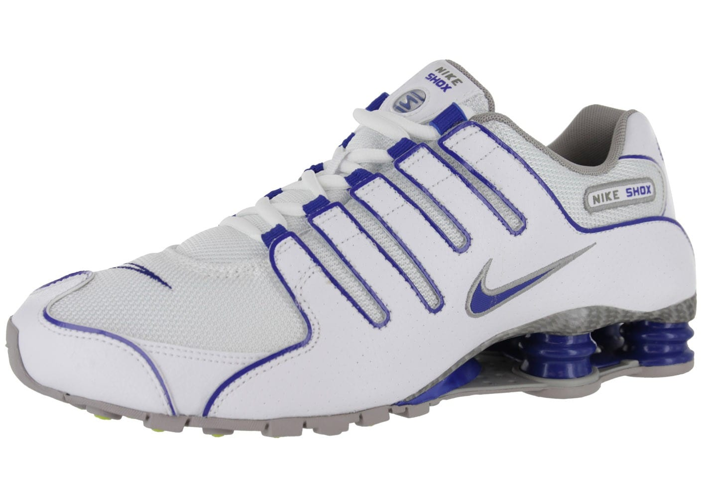 cheap for sale casual shoes super cheap Nike Shox Nz Blanche - Chaussures Baskets homme - Chausport