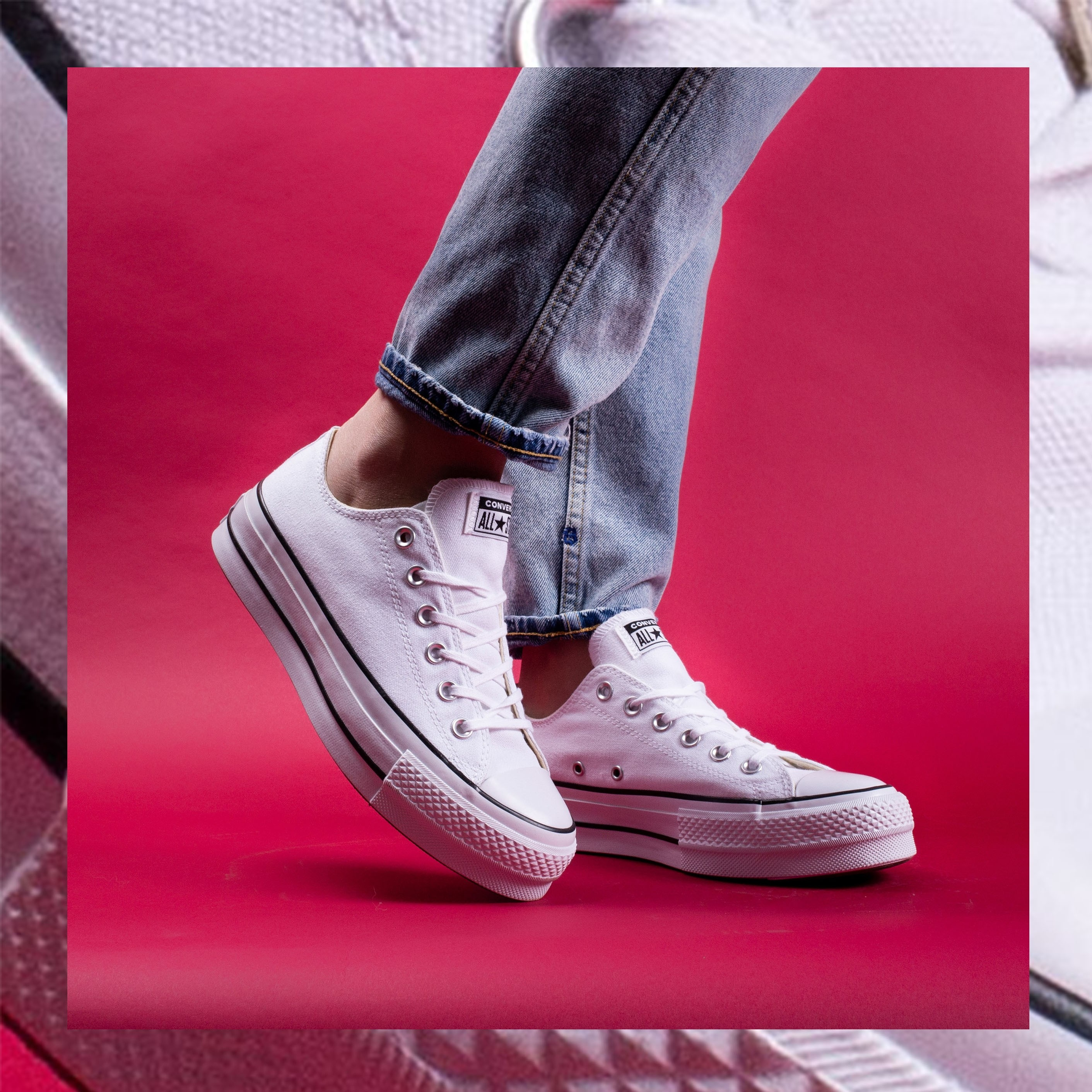 converse blanche lift
